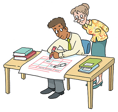 Personal planning for engineering. Planner clipart individual development plan
