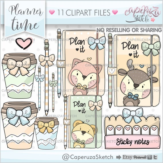 Planner clipart item. Graphics commercial use clip