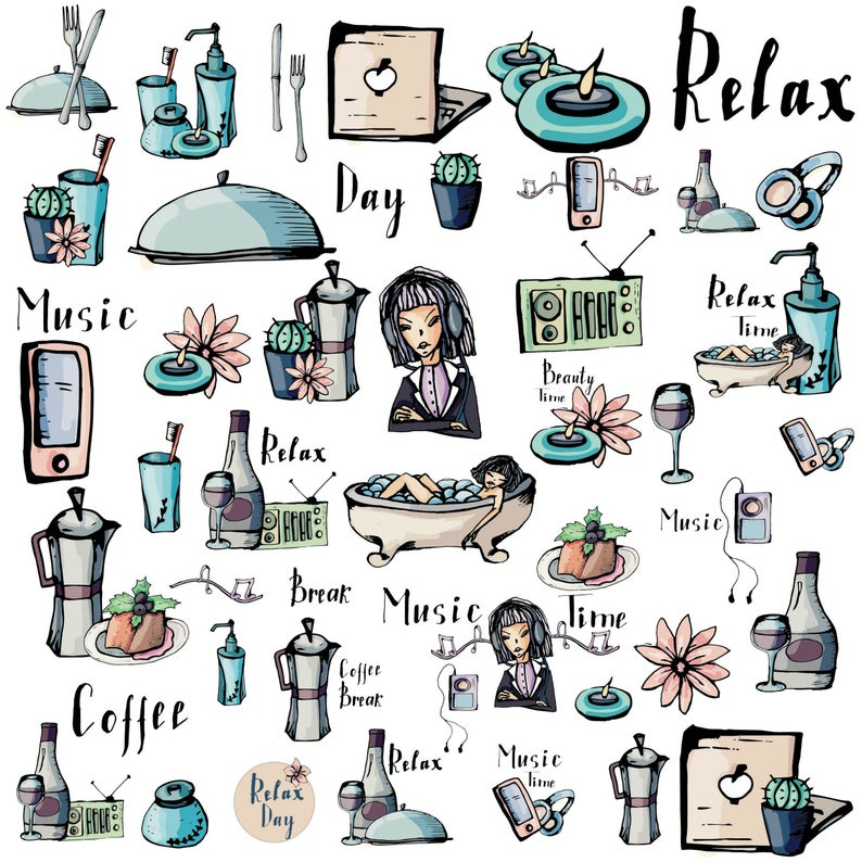 Commercial use stickers png. Planner clipart item