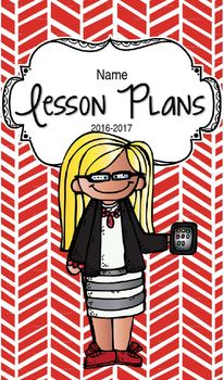 Planner clipart lesson plan. Book blonde hair glasses
