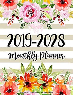 ten years calendar. Planner clipart monthly planner
