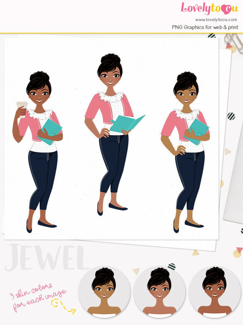 Planner clipart person. Girl woman character graphics