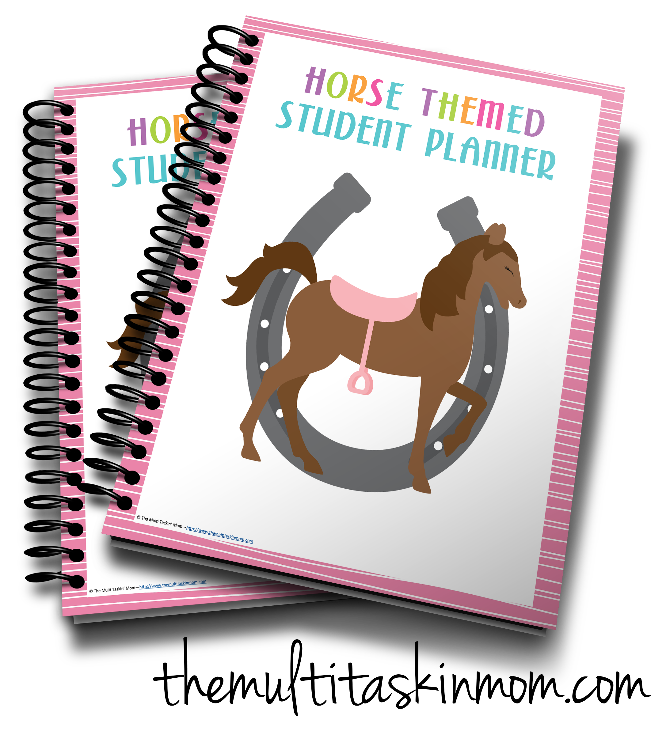 Horse themed the multi. Planner clipart planner student