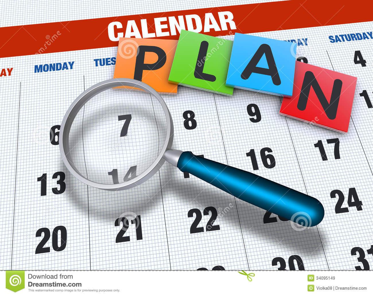. Planner clipart planning calendar