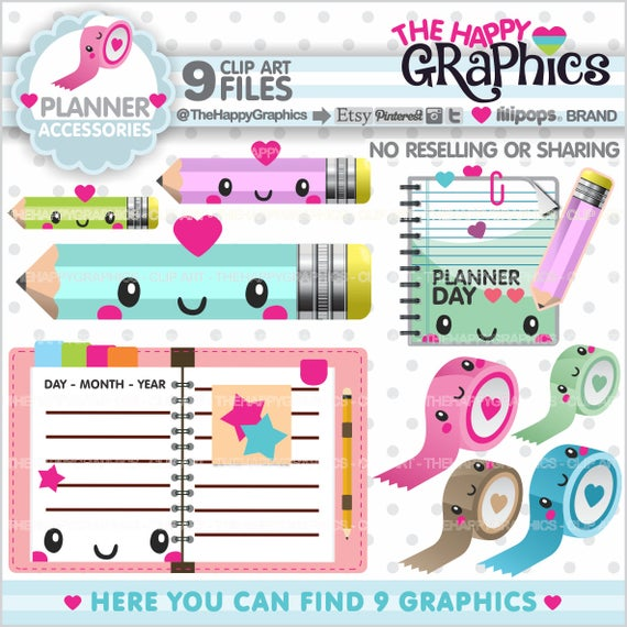 Graphics commercial use . Planner clipart product planning