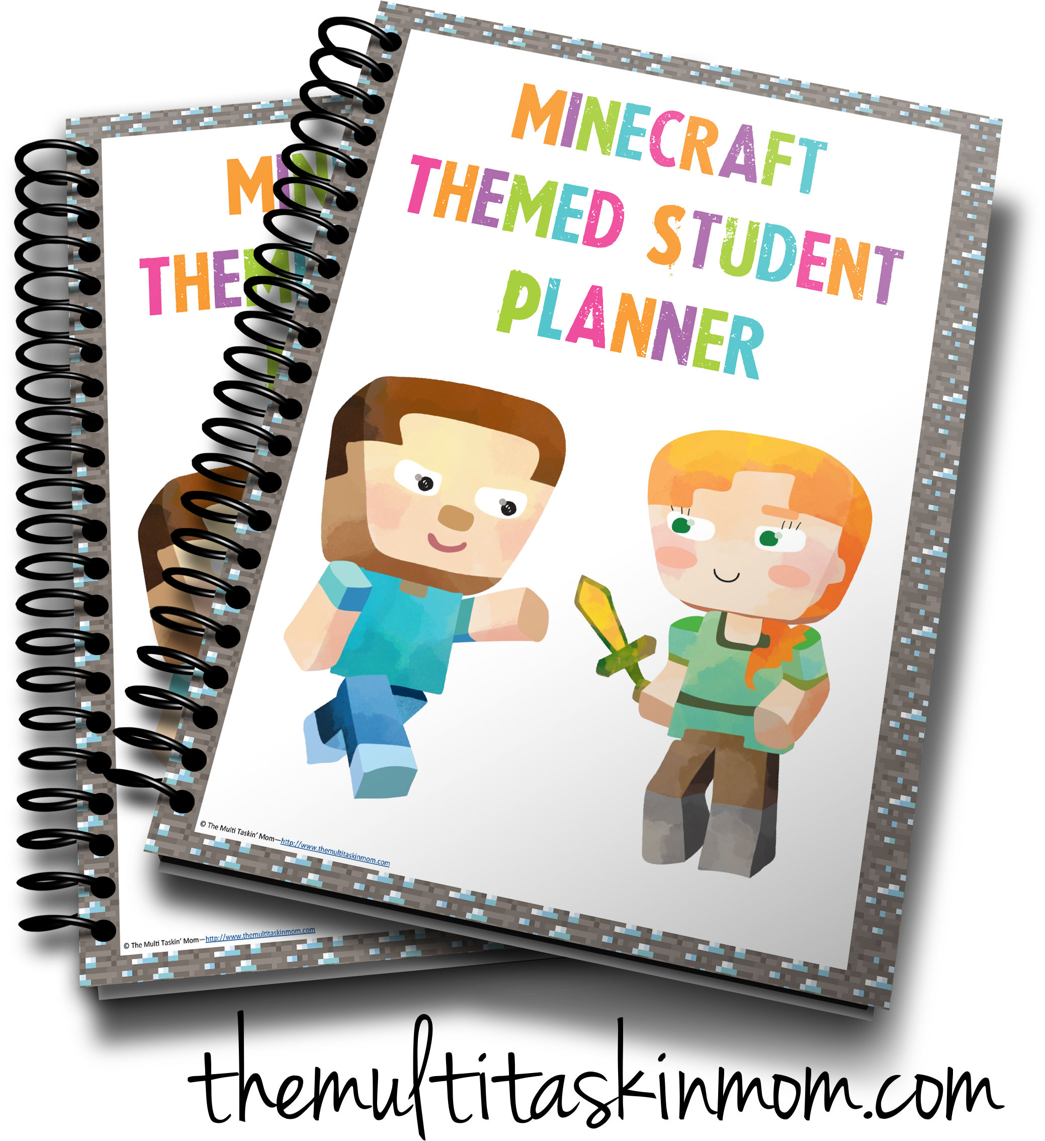 Planner clipart product planning. Minecraft student the multi