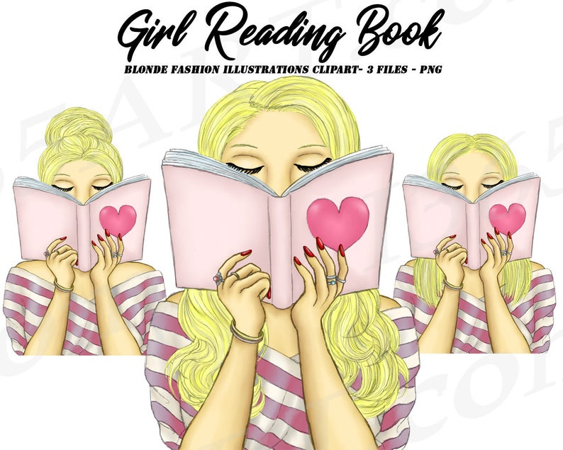Planner clipart reading diary. Girl fashion portrait personal