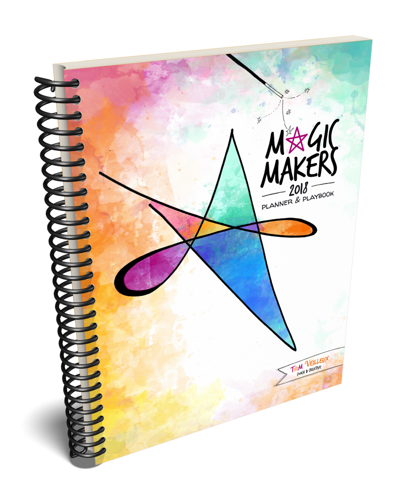 Planner clipart spiral notebook. Magic makers choose big