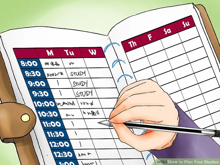 How to your studies. Schedule clipart study plan