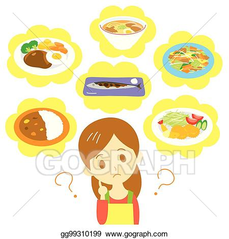 Planner clipart supper. Eps vector meal planning