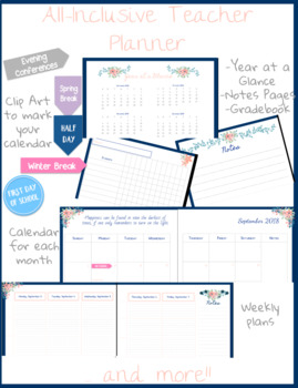 And . Planner clipart teacher tools