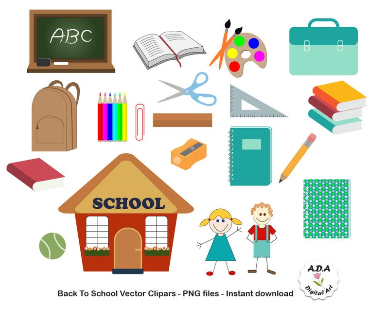 Planner clipart teacher tools. Back to school clip