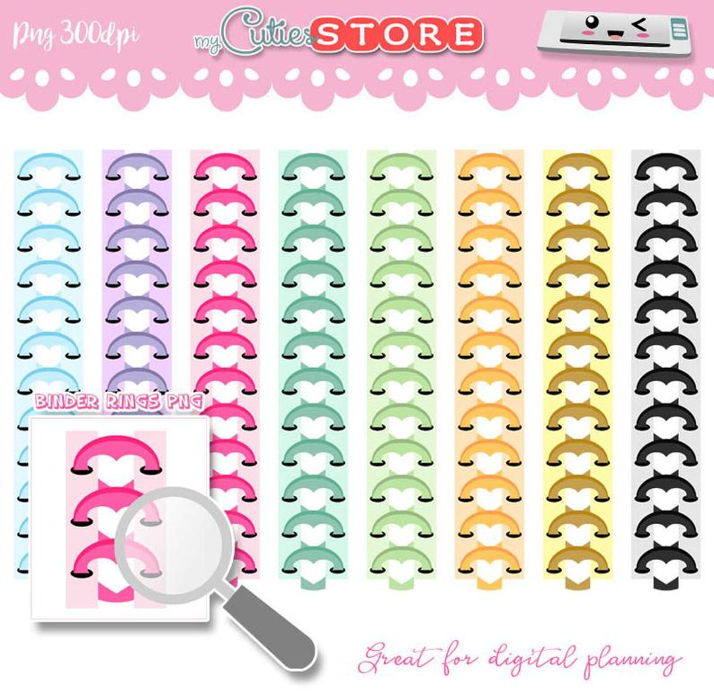 Planner clipart three ring binder. Heart rings png graphics