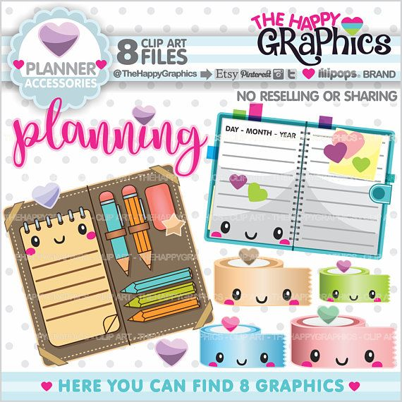 Planner clipart time plan.  new listing for