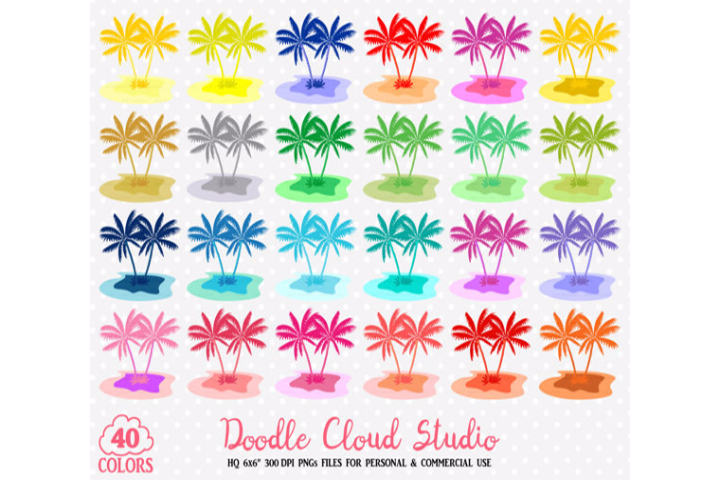 Planner clipart transparent.  colorful tropical island