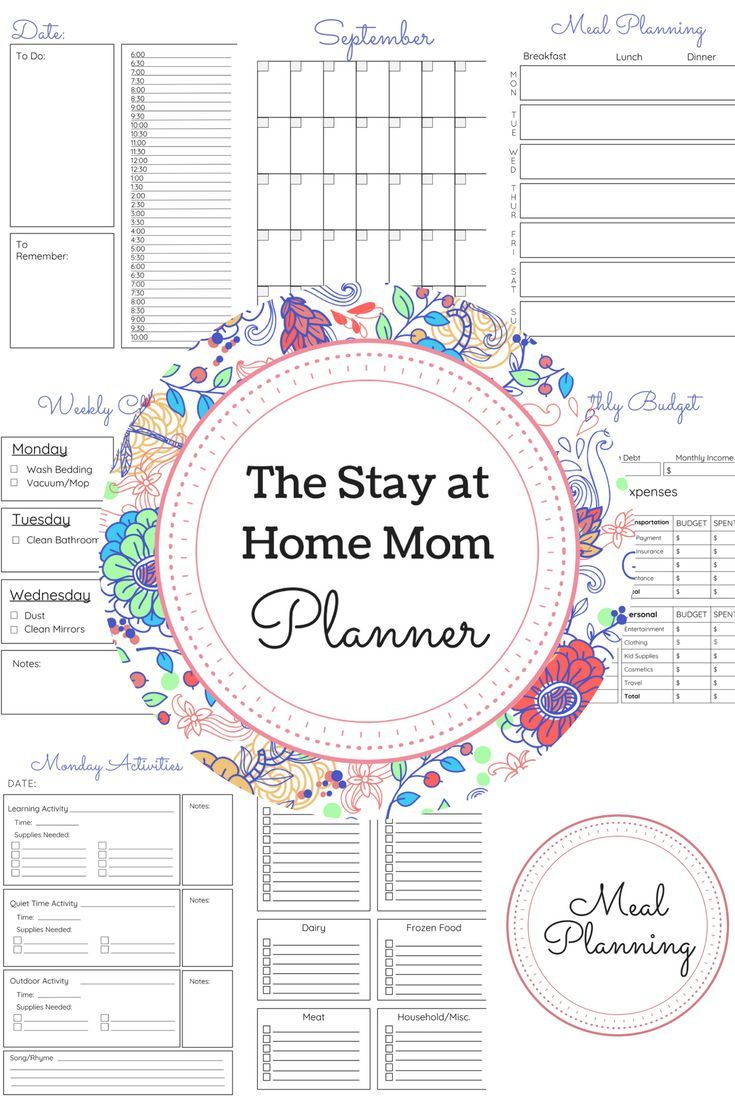 Planner clipart typical day. The every stay at