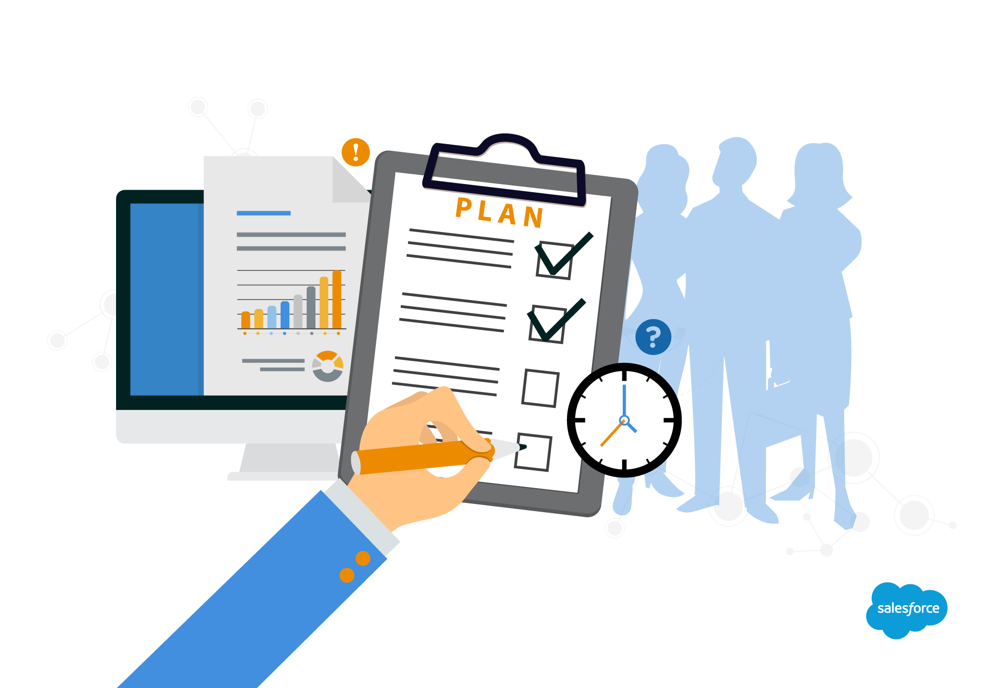Improve your sales and. Planner clipart typical day