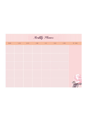 Planner clipart upsr. Mphonline rose collection monthly