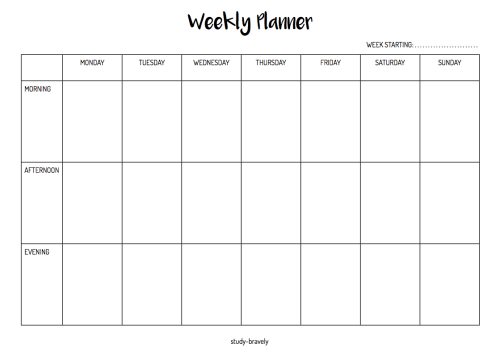 Planner clipart week calendar. Blank mo weekly