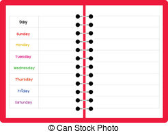 Free weekly cliparts download. Planner clipart week calendar