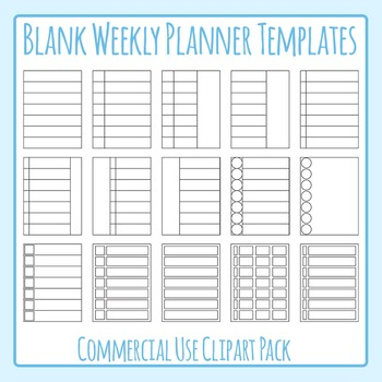 Blank templates clip art. Planner clipart weekly planner