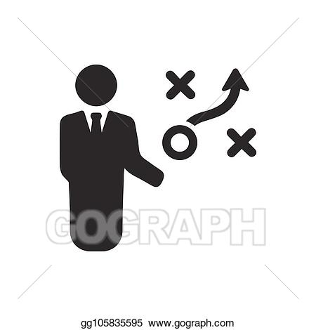 Planning clipart business planning. Eps vector strategic icon