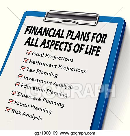Planning clipart checklist. Vector art for financial