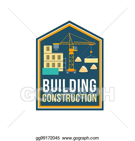 Vector art badge with. Planning clipart construction company