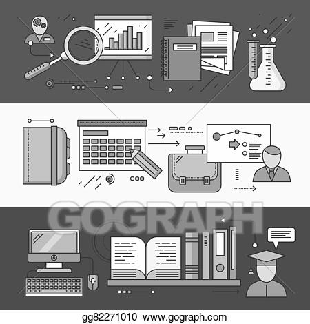 Planning clipart experience. Eps vector research and