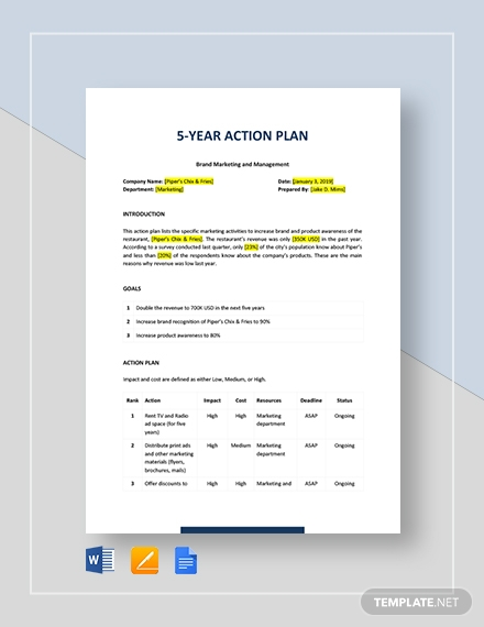 templates pdf docs. Planning clipart five year plan