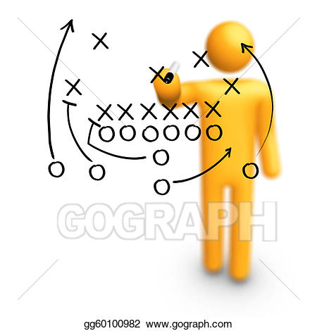 Planning clipart football coach. Drawing american strategy
