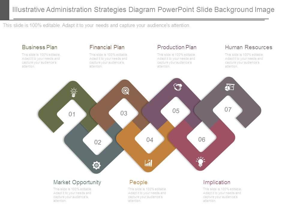 Illustrative administration strategies diagram. Planning clipart implication