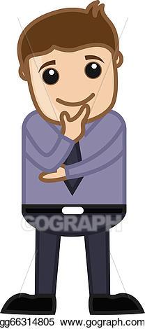Planning clipart man. Eps illustration office cartoon