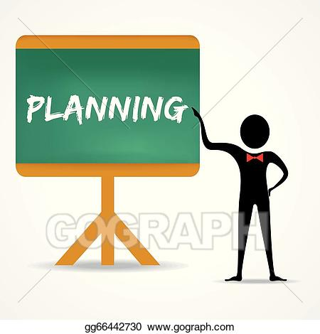Planning clipart man. Vector art points to