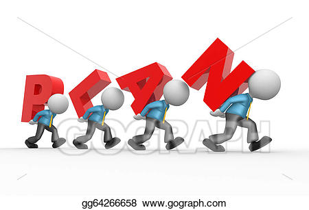 Planning clipart person. Stock illustrations gg