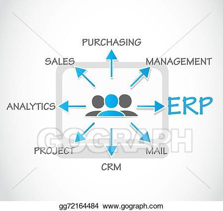 Vector art erp enterprise. Planning clipart planning process