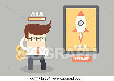 Vector man thinking and. Planning clipart small business