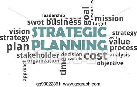 Planning clipart strategic leadership. Eps vector word cloud