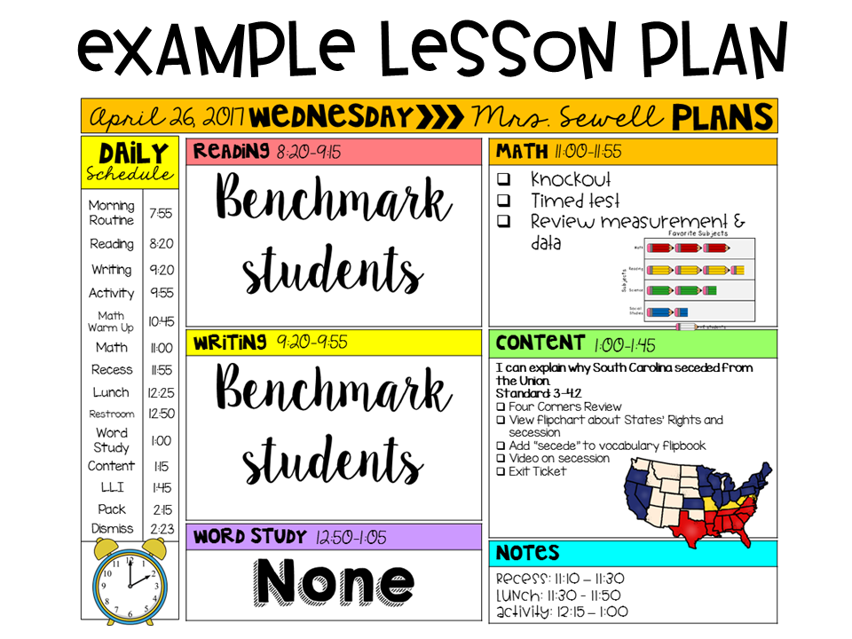 Ginger snaps editable template. Schedule clipart lesson plan