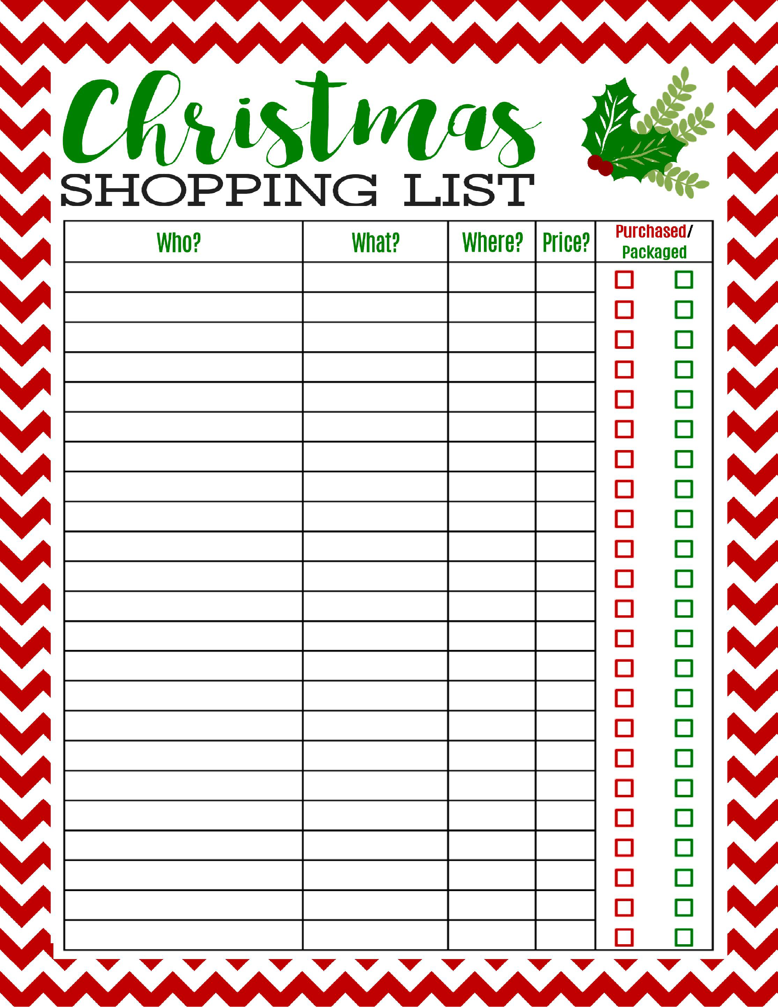 Freebie printable christmas shopping. Planning clipart wish list
