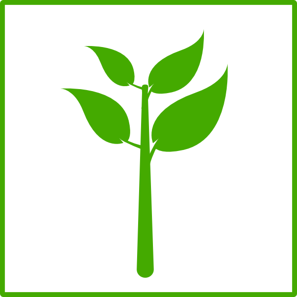 Planting clipart vector. Green plant icon clip