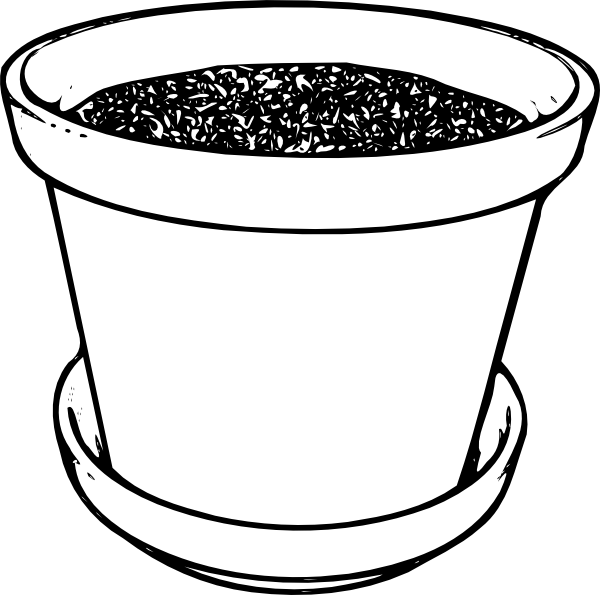 Poppy clipart potplant. Flowerpot with soil clip
