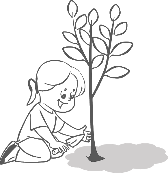Plant clipart tree. Planting trees free cliparts