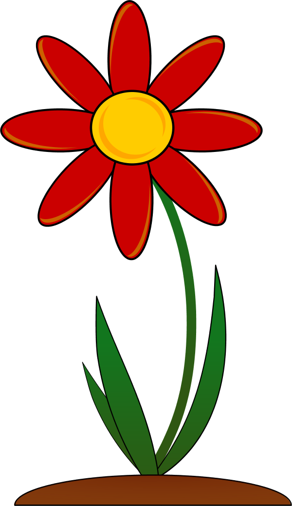 Plants clipart gumamela. Red flower vector clip