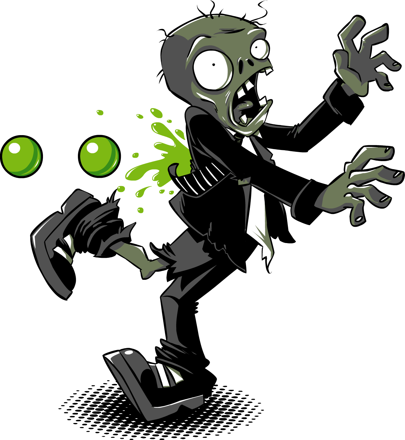 Zombie clipart plant vs zombie. Plants zombies rich werner