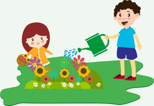 Planting clipart. Little plant tree free