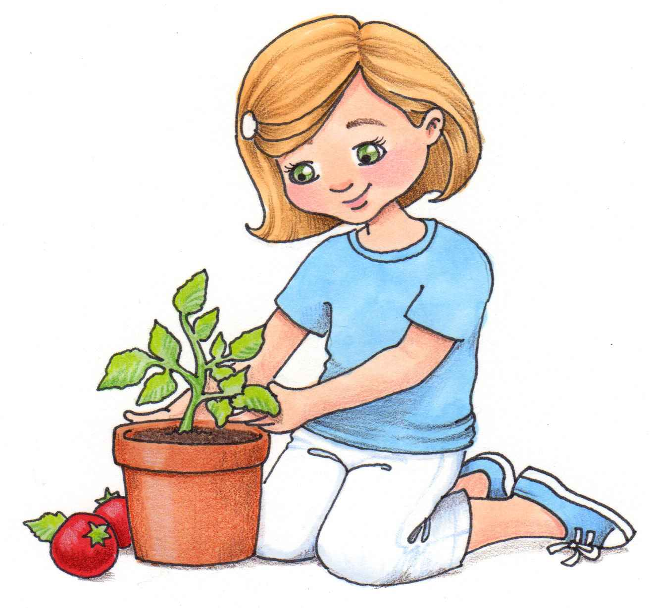 Child seeds clip art. Planting clipart