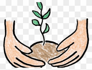 Planting clipart potted plant. Pot baby tree clip