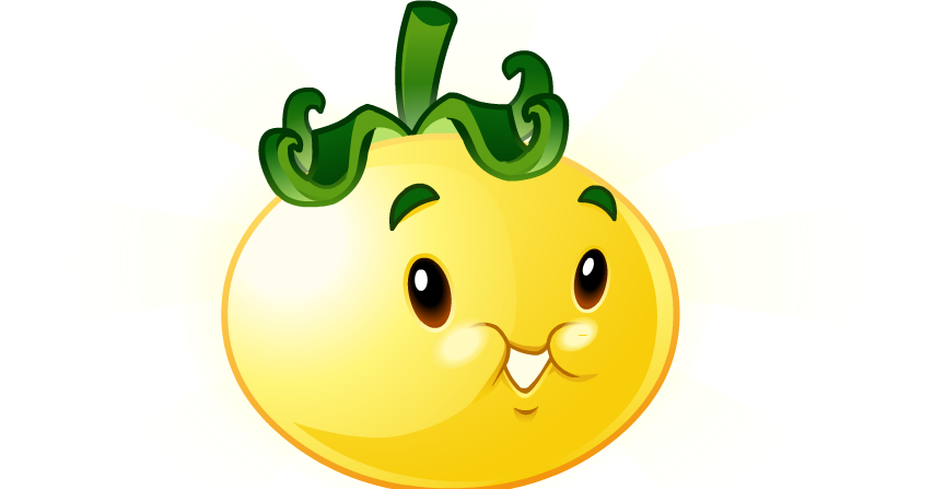 Solar tomato brightens up. Tomatoes clipart angry