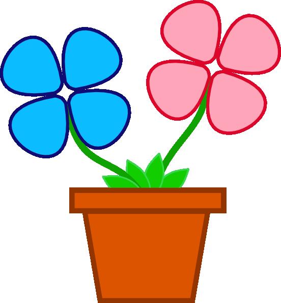 Planting clipart vector. Flowerpot clip art online